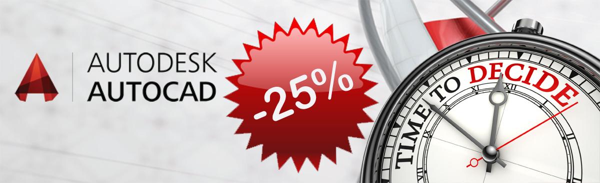 AutoCAD discount 25%